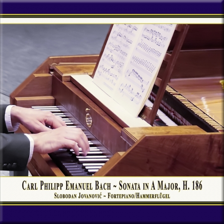 Cover: C.P.E. Bach: Sonate in A-Dur, Wq. 55 Nr. 4, H. 186
