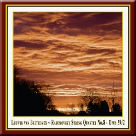 "BEETHOVEN: String Quartet No. 8 in E Minor, Op. 59, No. 2 ""Rasumovsky Quartet No. 2"""